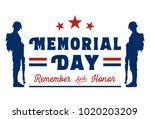 memorial day banner  vector...   Shutterstock .eps vector #1020203209