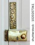 antique brass door furniture | Shutterstock . vector #1020207361