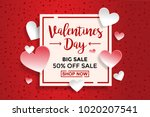 valentines day sale background... | Shutterstock .eps vector #1020207541