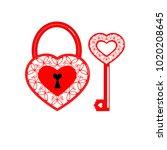 vector illustration. lock in... | Shutterstock .eps vector #1020208645