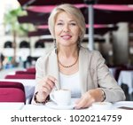 portrait of elegant mature... | Shutterstock . vector #1020214759