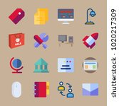 icons business with mouse ... | Shutterstock .eps vector #1020217309