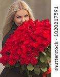 portrait of beautiful blonde...   Shutterstock . vector #1020217591