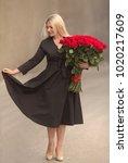 portrait of beautiful blonde...   Shutterstock . vector #1020217609