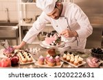 portrait of confectioner... | Shutterstock . vector #1020222631