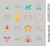 icons about amusement park with ... | Shutterstock .eps vector #1020222919