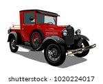 Vector Retro Truck. Available...