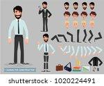 business man cartoon character... | Shutterstock .eps vector #1020224491