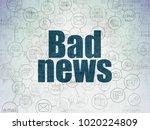 news concept  painted blue text ... | Shutterstock . vector #1020224809