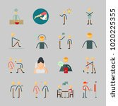 icons about human with music... | Shutterstock .eps vector #1020225355