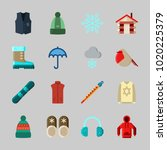 icons about winter with... | Shutterstock .eps vector #1020225379