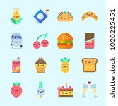 icons about food with ice cream ... | Shutterstock .eps vector #1020225451