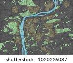 prague vector map with dark... | Shutterstock .eps vector #1020226087