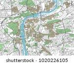 colorful prague vector city map | Shutterstock .eps vector #1020226105