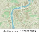 vector city map of prague with... | Shutterstock .eps vector #1020226315