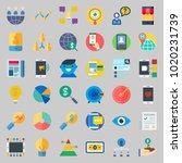 icons about marketing with... | Shutterstock .eps vector #1020231739