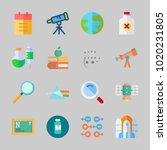 icons about science with... | Shutterstock .eps vector #1020231805