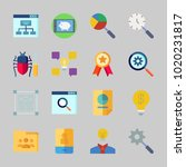 icons about seo with quality ... | Shutterstock .eps vector #1020231817