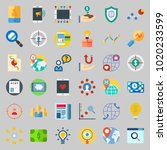 icons about marketing with... | Shutterstock .eps vector #1020233599