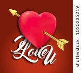 love and arrow and text i love... | Shutterstock .eps vector #1020235219