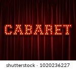 cabaret lightbulb lettering... | Shutterstock . vector #1020236227