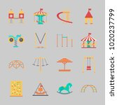 icons about amusement park with ... | Shutterstock .eps vector #1020237799