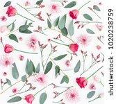 flowers composition. pattern... | Shutterstock . vector #1020238759