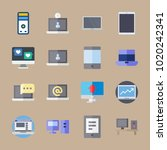 icons computer with laptop ... | Shutterstock .eps vector #1020242341