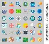 icons about marketing with...   Shutterstock .eps vector #1020242821