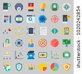 icons about marketing with...   Shutterstock .eps vector #1020242854