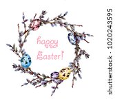 Hand Drawn Watercolor Easter...