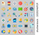 icons about marketing with... | Shutterstock .eps vector #1020246919