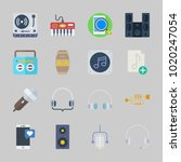 icons about music with... | Shutterstock .eps vector #1020247054