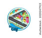 big city isometric real estate...   Shutterstock .eps vector #1020247915