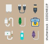 icons connectors cables with... | Shutterstock .eps vector #1020248119