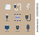 icons connectors cables with... | Shutterstock .eps vector #1020248131