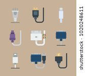 icons connectors cables with... | Shutterstock .eps vector #1020248611