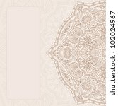 vector vintage ornamental... | Shutterstock .eps vector #102024967