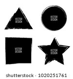 grunge post stamps collection ... | Shutterstock .eps vector #1020251761