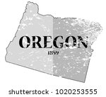 a grunged oregon state outline...   Shutterstock .eps vector #1020253555