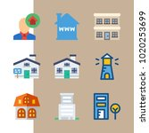 icons construction with... | Shutterstock .eps vector #1020253699