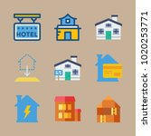 icons construction with 5 stars ... | Shutterstock .eps vector #1020253771