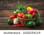 composition with assorted raw...   Shutterstock . vector #1020254119