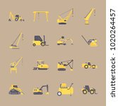 icons construction machinery... | Shutterstock .eps vector #1020264457