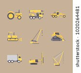 icons construction machinery... | Shutterstock .eps vector #1020264481
