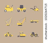 icons construction machinery... | Shutterstock .eps vector #1020264715