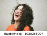 adorable laughing friandly... | Shutterstock . vector #1020265009