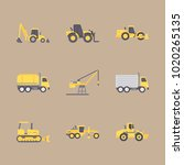 icons construction machinery... | Shutterstock .eps vector #1020265135