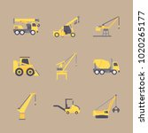 icons construction machinery... | Shutterstock .eps vector #1020265177
