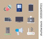 icons devices with tv  devices  ... | Shutterstock .eps vector #1020269521